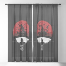 Uchiha Clan Silhouette Sheer Curtain