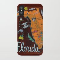 florida iPhone & iPod Cases featuring FLORIDA by Christiane Engel
