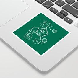 Fines Herbes Molecular Diagram Sticker