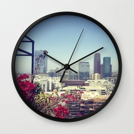 Downtown Los Angeles view from The Ace Hotel  Wall Clock