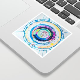 Spilling Wide Mandala Sticker