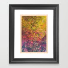 NEON MOUNTAINS / PATTERN SERIES 006 Framed Art Print