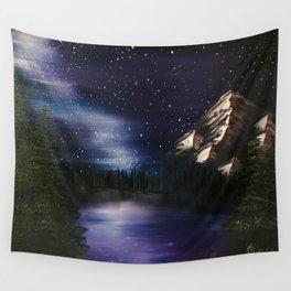 Milky Way Lake Wall Tapestry