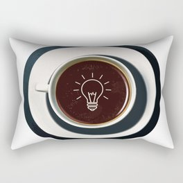 Coffee lights up my idea - I love Coffee Rectangular Pillow