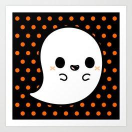 Cute spooky ghost Art Print