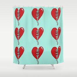 Sneaker heart Shower Curtain