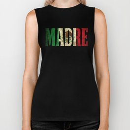 Madre Gift Mexican Design Mexican Flag Design For Mexican Pride Vintage Biker Tank