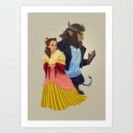 ang maganda at ang halimaw Art Print