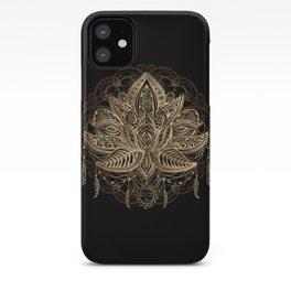 Lotus Black & Gold iPhone Case