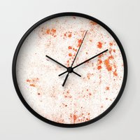splatter Wall Clocks featuring Splatter by Kit4na