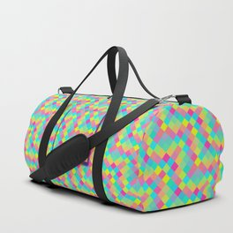 Pixelated colored squares background Duffle Bag