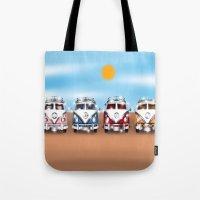 vans Tote Bags featuring VW Cammper Vans by Woofer