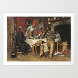 A Pastoral Visit, by Richard Norris Brooke, 1881, An African American family Art Print