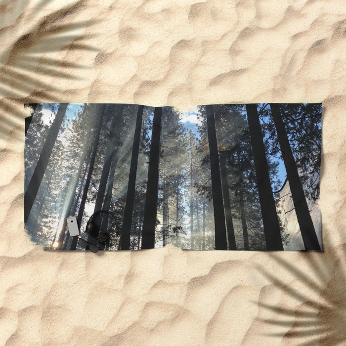 Sunlight Shines Through the Trees Beach Towel