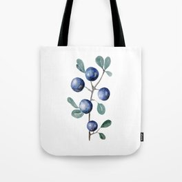 Blackthorn Blue Berries Tote Bag