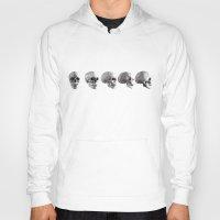 skulls Hoodies featuring Skulls by Rik Reimert