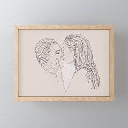 soaked in you Framed Mini Art Print