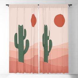 Cat Landscape 84: Cat-tus Blackout Curtain