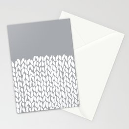 Half Knit Grey Stationery Cards