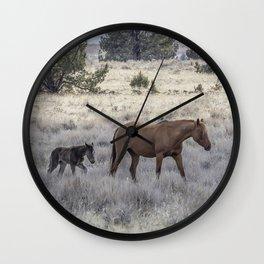 Staying Close to Mama Wall Clock