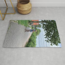 NYC Morning Exercise Photograph Rug
