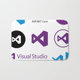 9 visual studio and xamarin stickers for c# developers Bath Mat