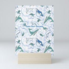 Save Our Oceans, Love Our Oceans Mini Art Print