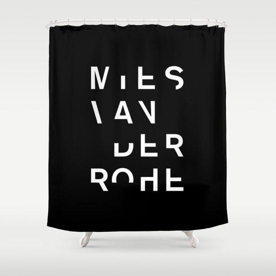 MIES Shower Curtain