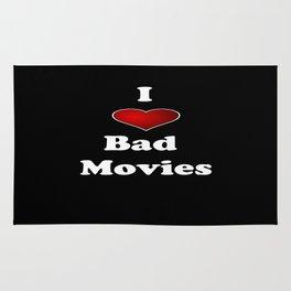 I (Love/Heart) Bad Movies print by Tex Watt Rug