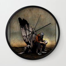 The Angel And The Skull Wall Clock