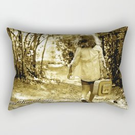 Angel of Hope & Lily Gold Rectangular Pillow