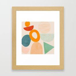 mid century modern abstract design Framed Art Print