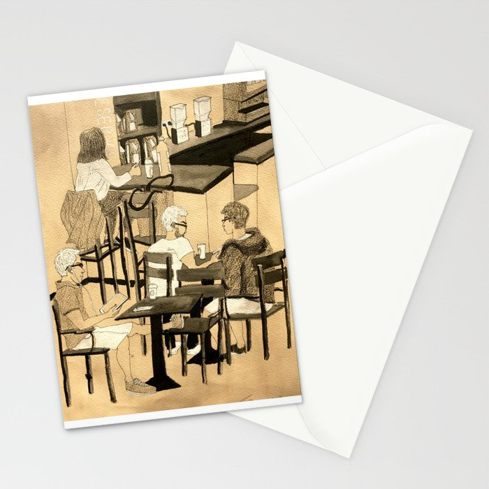Coffee Shop Stationery Cards