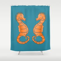 seahorse Shower Curtains featuring Seahorse by mailboxdisco