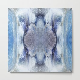 163 - water abstract design Metal Print