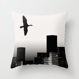 The Sea Raven Throw Pillow