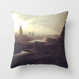 London Mornings Throw Pillow
