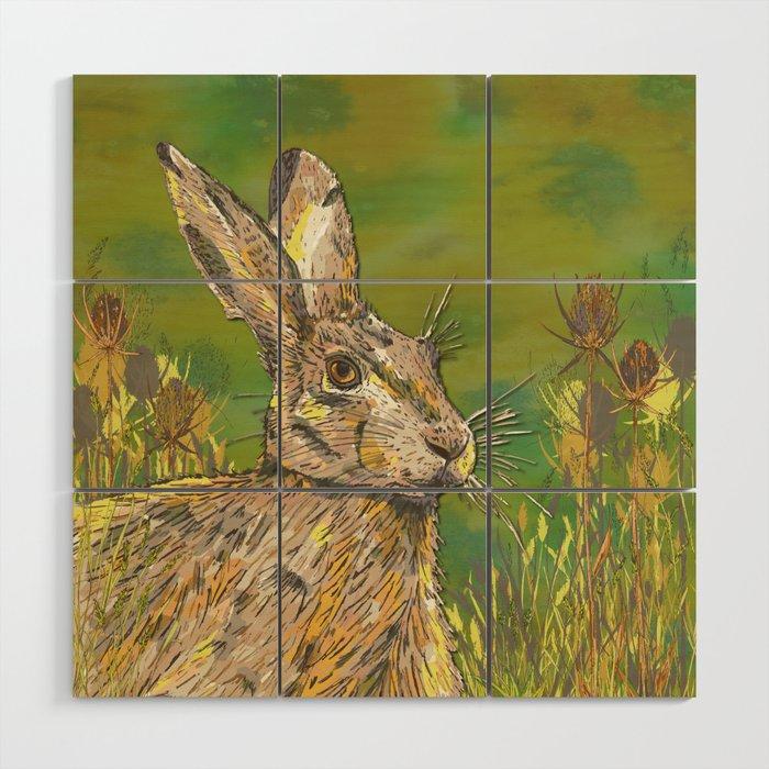 Summer Hare Wood Wall Art