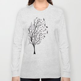 Tree Birds Long Sleeve T-shirt