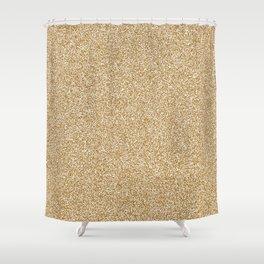 Melange - White and Golden Brown Shower Curtain
