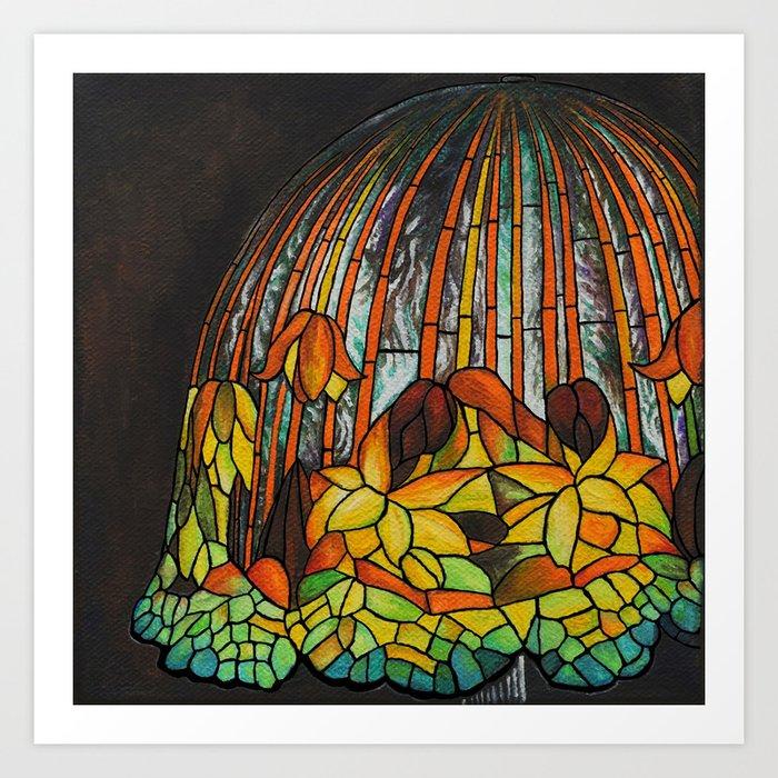 Dropping Flower Lamp Art Print