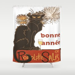 Bonne Annee Happy New Year Parody Shower Curtain