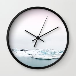 Beautiful glacier lagoon winter Wall Clock