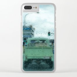 Rainy Days and Vintage Vehicles Clear iPhone Case