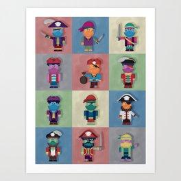 Buccaneers Monstris Art Print