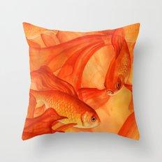 Goldrush Throw Pillow