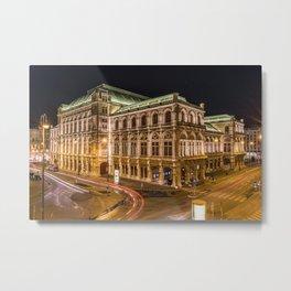 Staatsoper Vienna City Landscape Metal Print