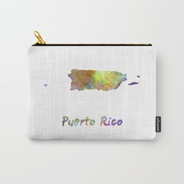 Puerto Rico  in watercolor Carry-All Pouch