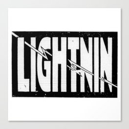Lightnin Canvas Print