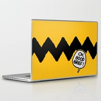charlie brown Laptop & iPad Skins featuring CHARLIE CHEVRON by John Medbury (LAZY J Studios)